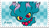 Misdreavus Fan Stamp