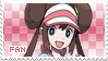 Rosa Fan Stamp