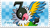 Chatot Fan Stamp by Skymint-Stamps
