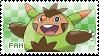 Quilladin Fan Stamp