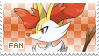 Braixen Fan Stamp by Skymint-Stamps