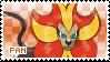 Pyroar Fan Stamp (Male) by Skymint-Stamps