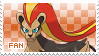 Pyroar Fan Stamp (Female) by Skymint-Stamps
