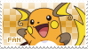 Raichu Fan Stamp