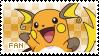 Raichu Fan Stamp by Skymint-Stamps