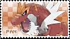 Tyrantrum Fan Stamp by Skymint-Stamps