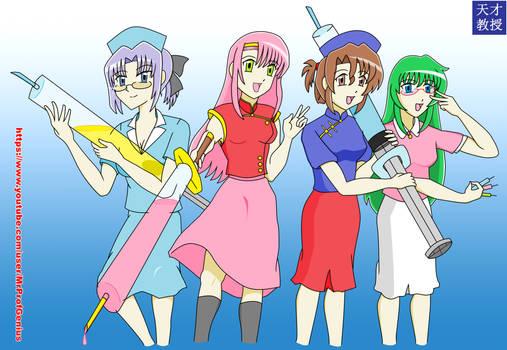 Hayate The Combat Butler Maids in Nurse Cosplay