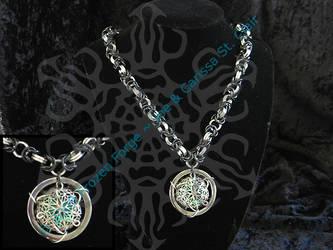 Byzantine w. Green Pendant by frozenforge