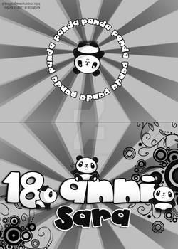 Cute panda - Invite card