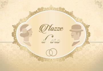 Golden wedding - Invitation card