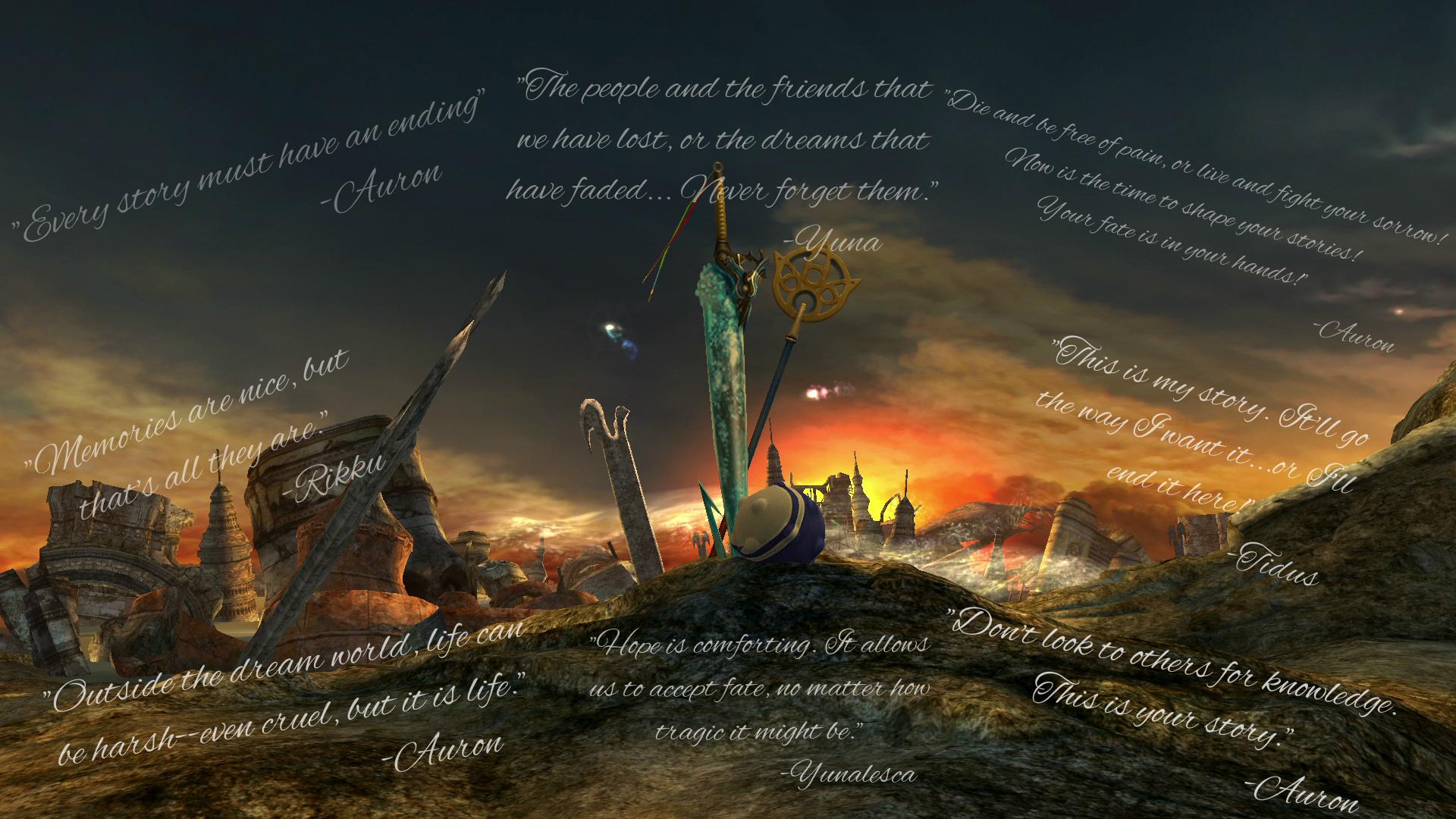Final Fantasy 10 Wallpaper: Final Fantasy X Wallpaper (Quotes) By Kaet125 On DeviantArt