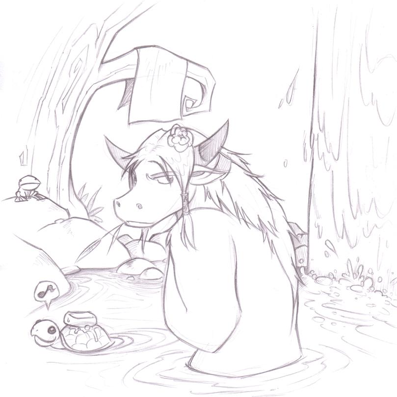 Tauren Girly Bathing by RandomFellow