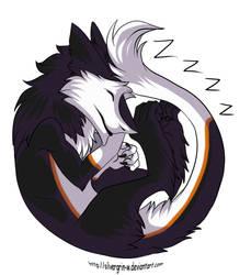 A Sleeping Sergal by LupusKing