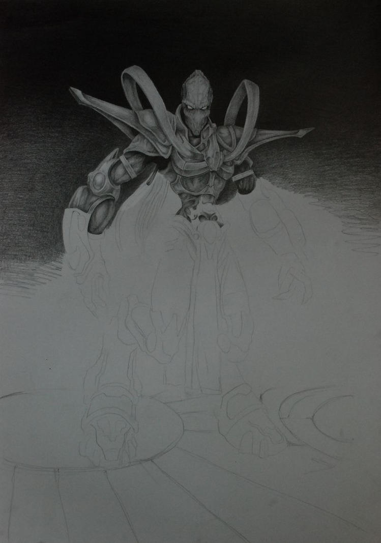 Protoss Zealot by DarkDrawer513