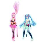 Luka and Miku Boxart Tda Append Style