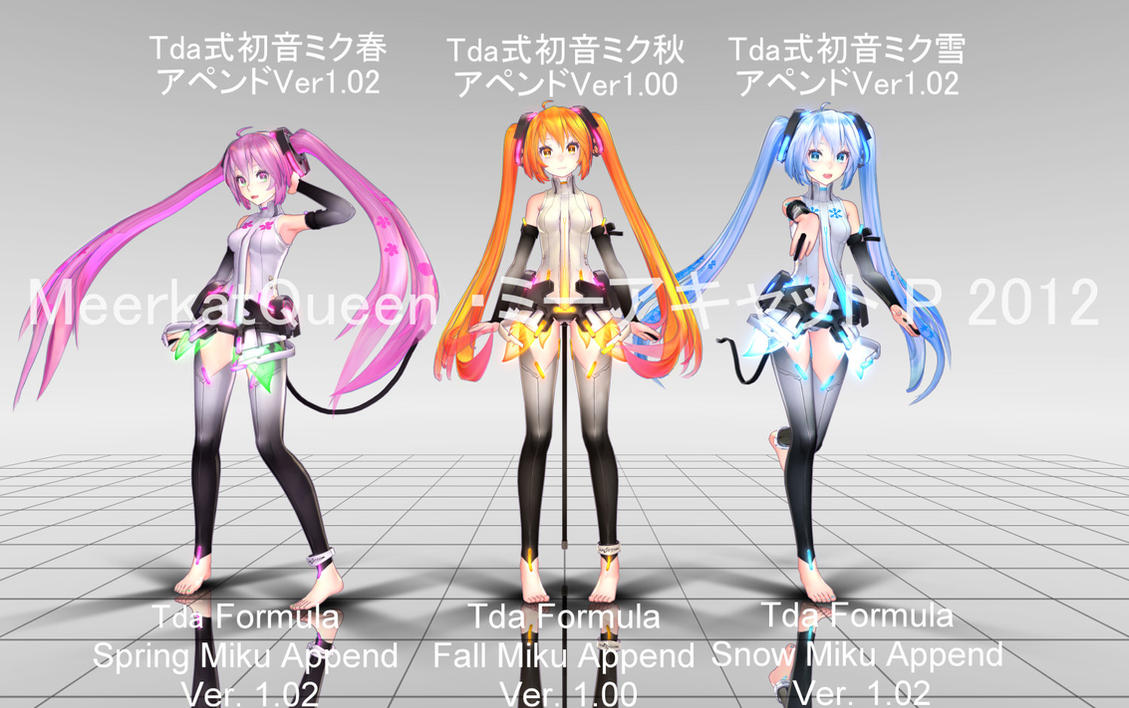 DISTRABUTION ENDED Tda Formula Miku Seasons Append by MeerkatQueen
