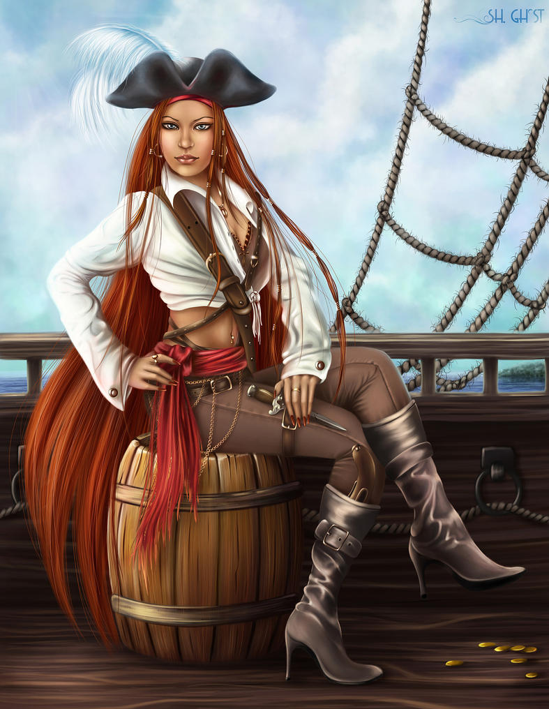 Girl pirate by Lady-Ghost on DeviantArt - photo#41