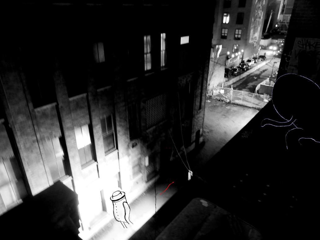Alley crime by MangekkoJones