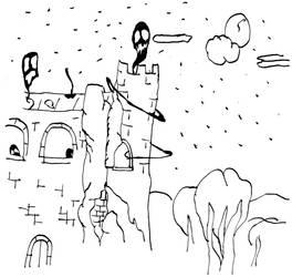 Spooky Building by MangekkoJones