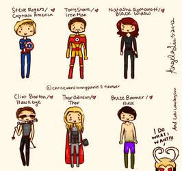 The Avengers by BlackD0ve