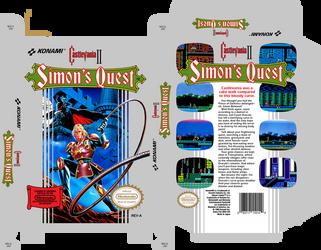 Castlevania II Simons Quest (sleeve) by Tallimos