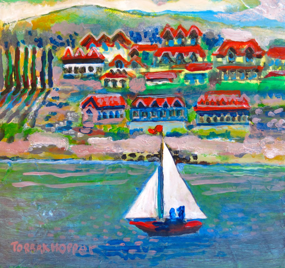 sailboating in Dopaquel, scott richard by torbakhopper