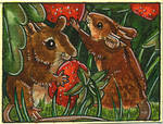 Wild Strawberries - ACEO