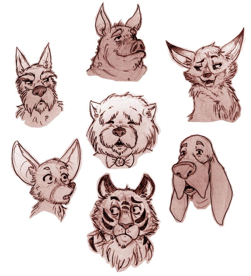 sketches animals