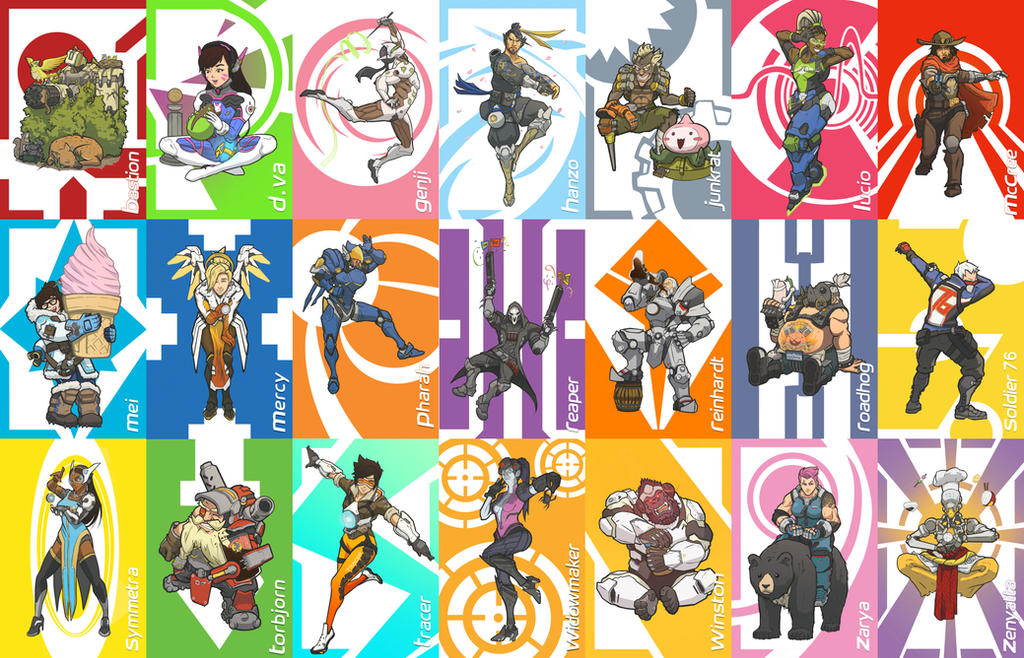 overwatch character cards by britandbran on deviantart