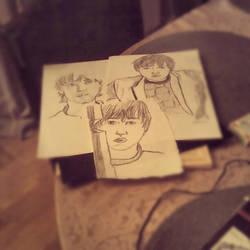 Rupert Grint sketches