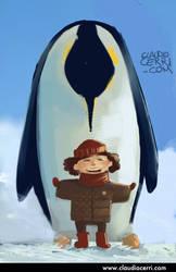 Penguin Sketch by claudiocerri