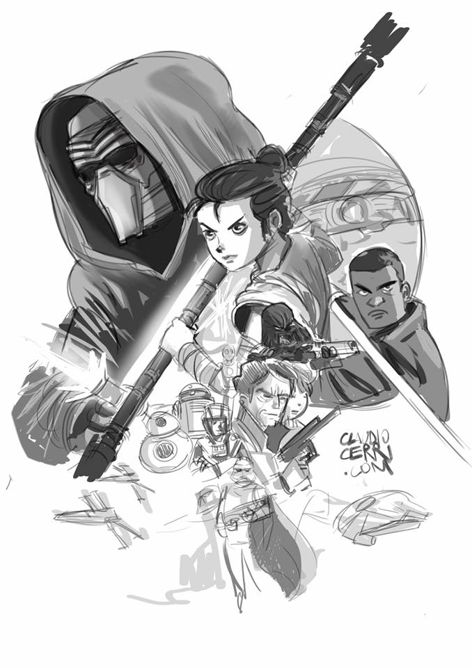 Star Wars Cover Sketch by claudiocerri