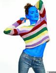 Daisy Ridley Blueberry Sweater 2/3