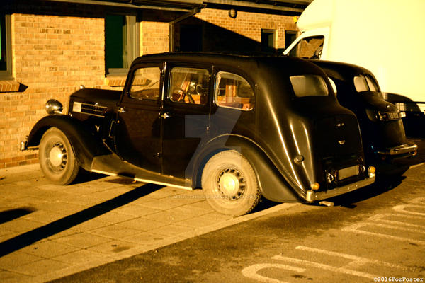 Old Car at Night by MrWitchblade