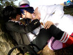 Mephisto and Rin kiss