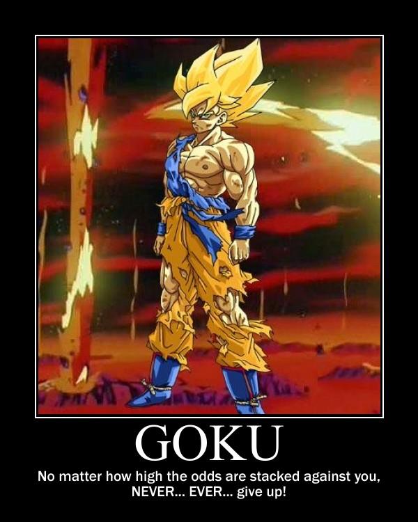 Goku motivator by KATTALNUVA on DeviantArt