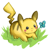 Chubby Pikachu by Raidiance