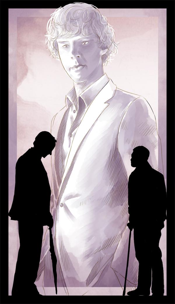 Mycrof, John and Sherlock by AzurLazuly