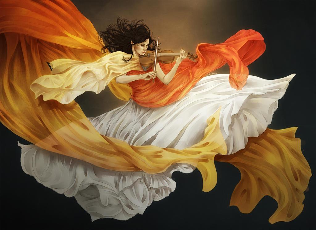 Violinist by AzurLazuly