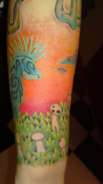Princess Mononoke Kodama + Forest Spirit tattoo 2 by ...