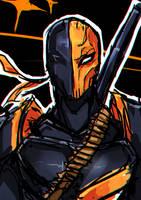 Deathstroke (Slade) Sketch by Fritharn
