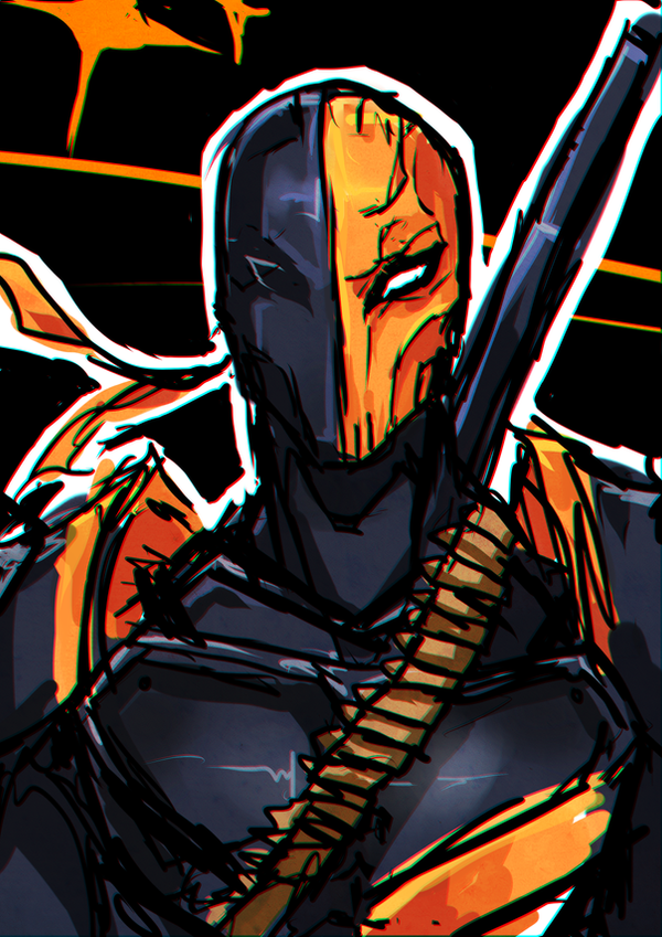 Deathstroke (Slade) Sketch by Fritharn