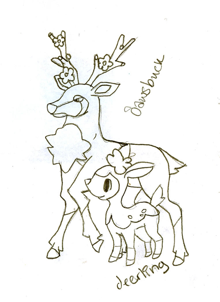 Pokemon sawsbuck coloring pages car interior design for Deerling coloring pages