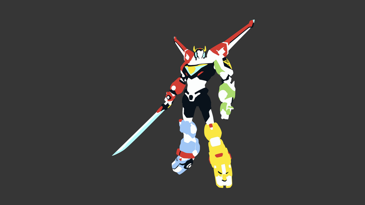 Voltron Minimalist Wallpaper (Gray Background) by DamionMauville