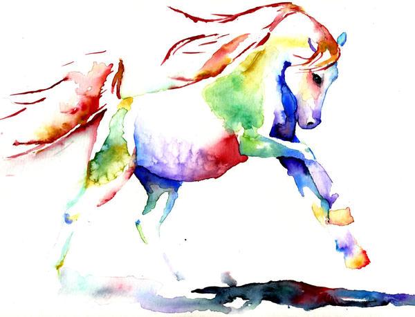 Rainbow Horse Study II by sythesite
