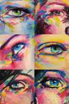 acrylic and oil eyes