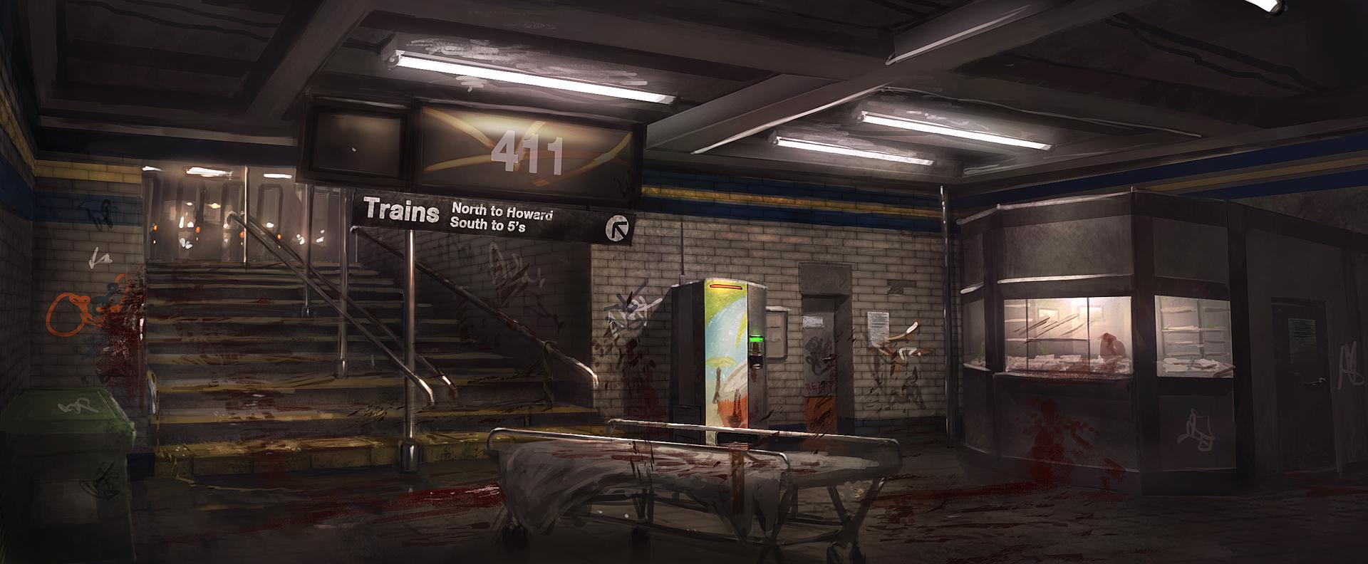 Subway concept art by Yellomice