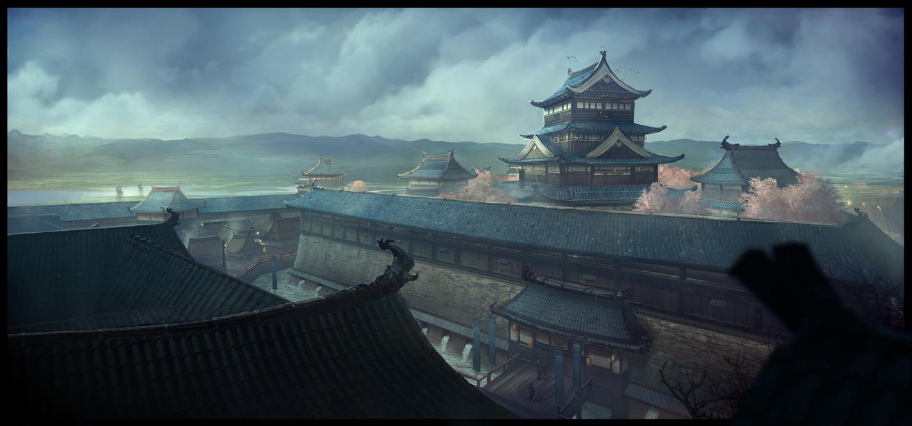 Japanese Castle N2 By Yellomice On Deviantart