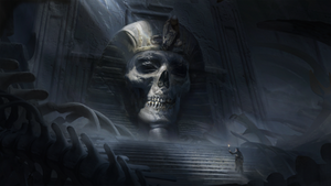 Skeleton tomb by Yellomice