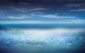 Background 4 - Calm sea by lifeblue